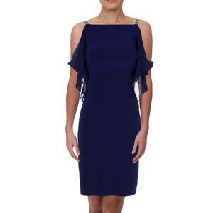 NWT Ralph Lauren Blue Embellished Cocktail Dress